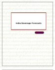 India Beverage Forecasts