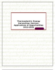 Thermoelectric Energy Harvesting: Devices, Applications & Opportunities 2012-2022