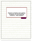 Report on Paints and coating products for the building industry - Main players