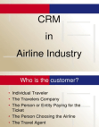 CRM in Airline Industry