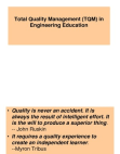Total Quality Management in Engineering Education