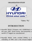 Hyundai: Organization Analysis (PPT)