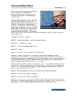 CNBC Interview Transcript: Warren Buffett on Moody's and Credit Rating Agencies