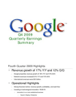 2009Q4 Google Earnings