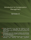 Introduction to Compensation Management