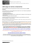 200 Ways to Recover Revive Hard Drive