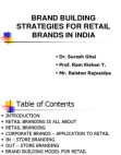 BRAND BUILDING STRATEGIES FOR RETAIL