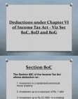 Tax - Deductions under chapter VI