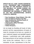 H.E. President Uhuru Kenyatta Inaugural Address