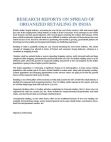 Research Study on Spread of Organized Retailing in India