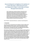 Research Reports on Employee Perceptions of Leadership Styles within Infrastructure