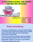 Management Presentation on Rural and Urban Advertisement  (PPT)