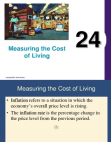 How to Measure the Cost of Living