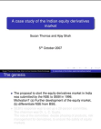 Case of Studies on Indian Equity Derivatives Market