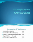 Presentation on Capital Gains