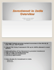 Blackbook project on investment in india overview