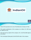PROJECT ON INDIAN OIL COMPANY