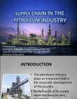 SUPPLY CHAIN IN PETROLEUM INDUSTRY