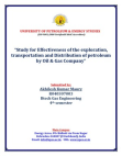STUDY OF EFFECTIVNESS OF DISTRIBUTION OF PETROLEUM BY OIL AND GAS INDUSTRY