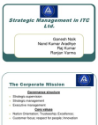 PRESENTATION ON STRATEGIC MANAGEMENT IN ITC