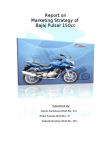 PROJECT ON MARKET STRATEGY OF BAJAJ PULSAR