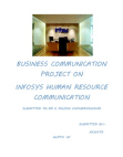 PROJECT ON INFOSYS  HUMAN RESOURCE COMMUNICATION