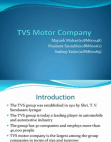 PRESENTATION ON TVS MOTOR COMPANY