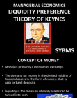 LIQUIDITY PREFERENCE THEORY OF KEYNES