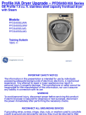 GE PFDS45 Dryer GWS2011 Service Manual