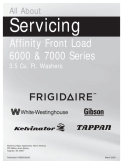 Frigidaire 2009 Affinity Washer Service Manual