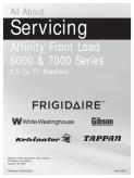 Frigidaire 2009 Affinity Washer Service Manual