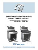 Electrolux EW30EF65G EI30EF55G CEW30EF65G CEI30EF55G Freestanding Electric Range Service Manual