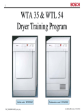 Bosch WTA 35 & WTL 54 Dryer Training Program