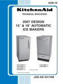 KitchenAid 2007 Design 15 & 18 inch Automatic Ice Maker KAR-19