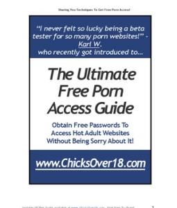 The Ultimate Free Porn Access Guide Obtain Free Passwords To Access Hot ...