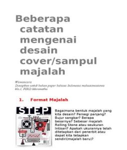 Unsur Desain Grafis on Desain Grafis Cover Majalah