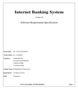 srs for online banking system