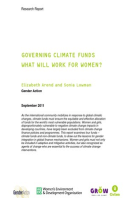 Governing Climate Funds: What will work for women?