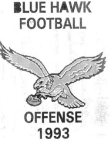1993 Dickinson State Blue Hawks Offense  78 Pages