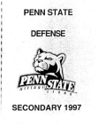 1977 Penn State Secondary Manual  76 Pages