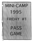 1995 Kansas City Chiefs Mini Camp Offense  38 Pages