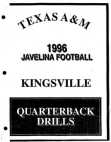 1996 Texas AM Kingsville Javelinas QB Manual