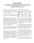 Passing Game Reading From High to Low by Doug Ramsey