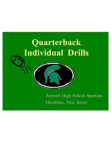 Steinert NJ Quarterback Drills  24 slides