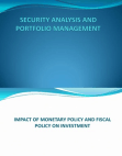 impact of monetary and fiscal policy on investment