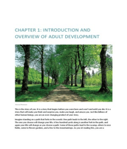 PSY 202 Chapter 1 > AREAS OF ADULT DEVELOPMENT