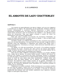 El Amante de Lady Chatterley D. H. Lawrence-1255
