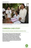 Cambodia Case Study: Women flourish in disaster risk reduction leadership roles